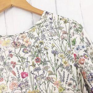 H&M Floral Short Sleeve Blouse